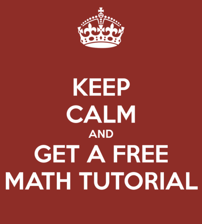 Math Tutorials: May 30th |