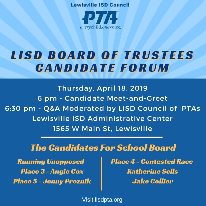 4-18 LISD Candidate Forum